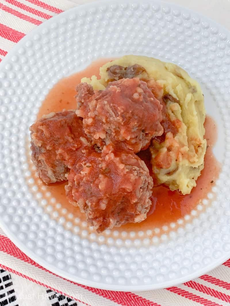 porcupine meatballs and potatoes