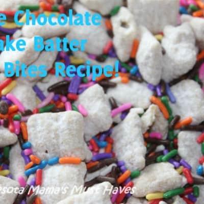 White Chocolate Cake Batter Bites Recipe!