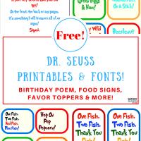 Free Dr. Seuss Printables & Fonts!