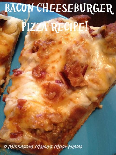 Homemade Bacon Cheeseburger Pizza Recipe