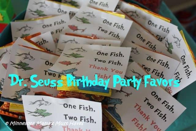 Dr Seuss party favors