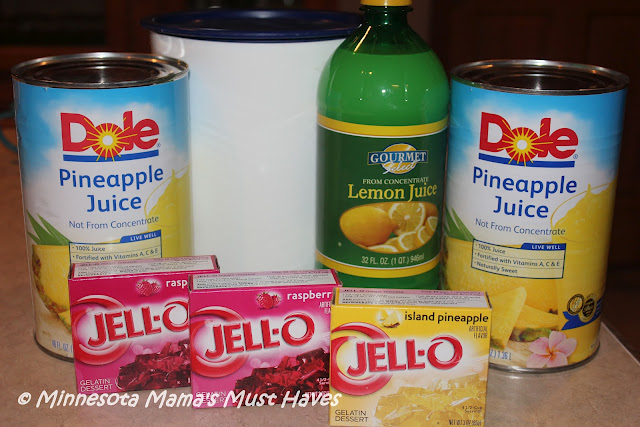 Jell-O Punch Recipe! Make ahead and freeze ~ Super Easy!