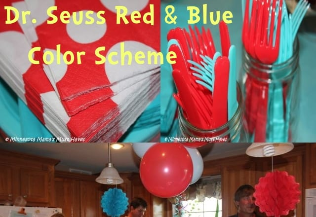 Dr Seuss red and blue color scheme