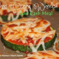 zucchini pizza wheels