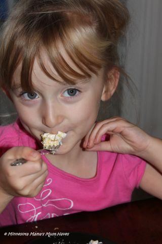 Danika eating cake
