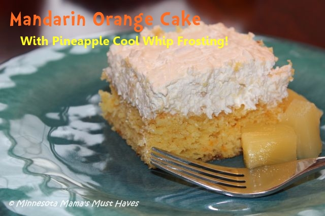 Celebrating Danika Going To Preschool With #CoolWhipFrosting! Mandarin Orange Cake with Pineapple Cool Whip Frosting Recipe!