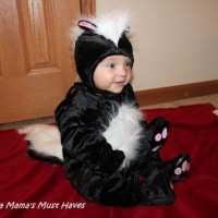 Skunk Costume! Carson Is The Cutest Skunk Around!