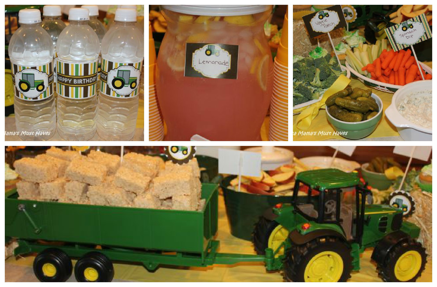 John Deere Tractor Birthday Party Food Games Favors More
