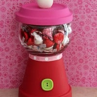 DIY Valentine's Day Gumball Candy Dish! Great Teacher Gift for under $5!