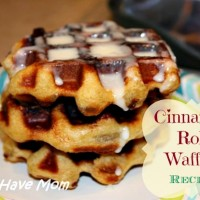 Cinnamon Roll Waffles Recipe