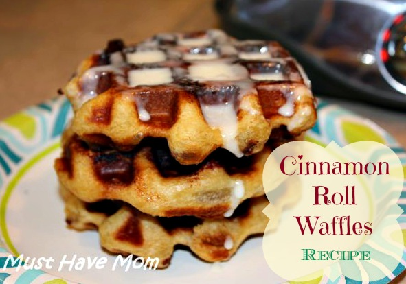 Cinnamon Roll Waffles Recipe!