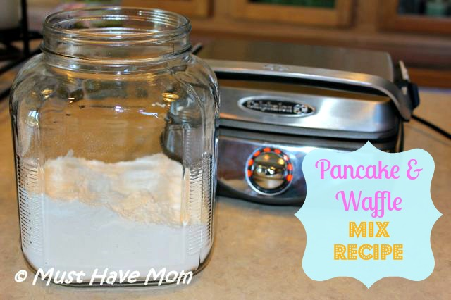 Pancake and Waffle Mix Recipe ~ Dry Make Ahead Mix!