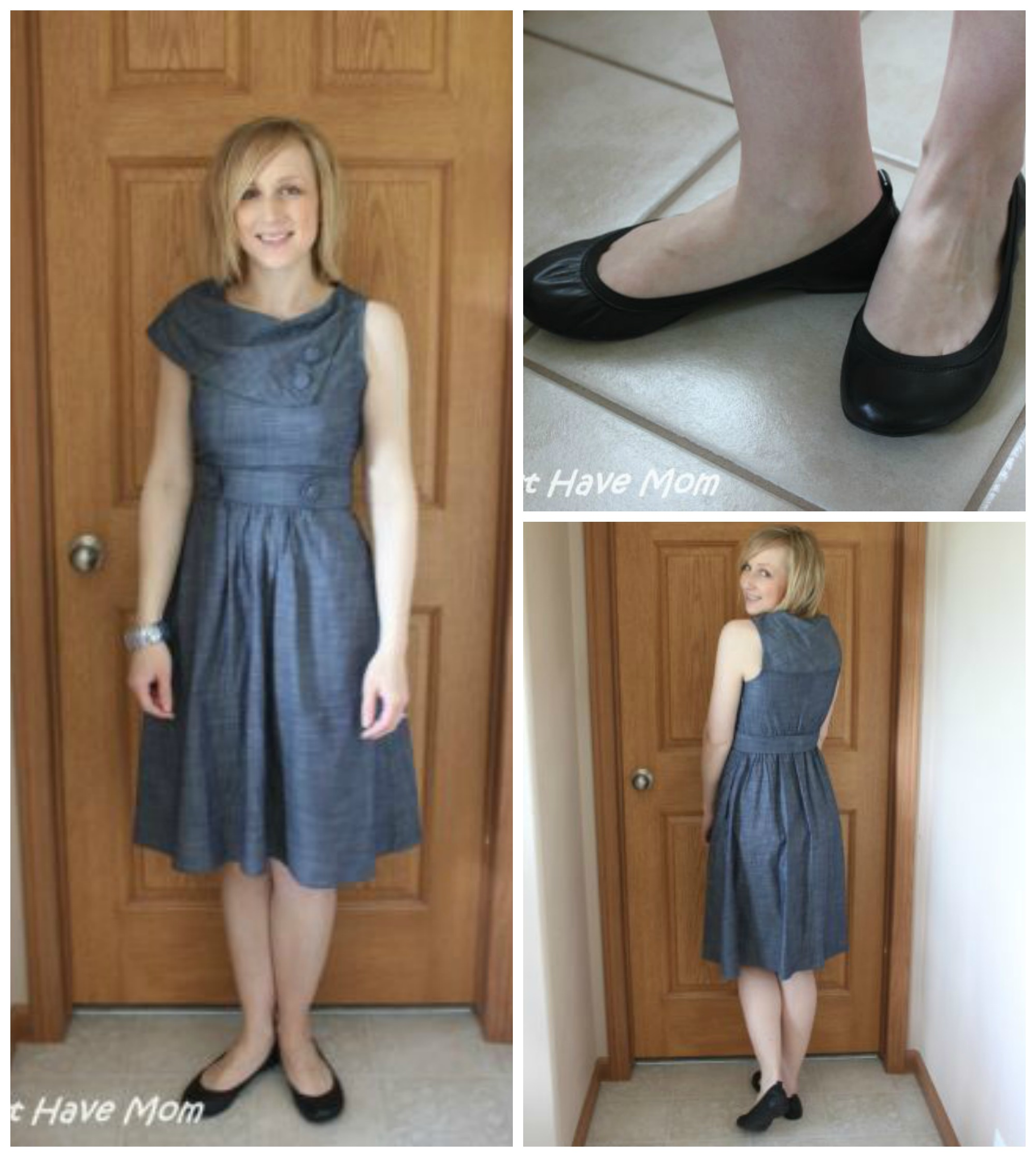 eShakti Dress Paired With Brian James Flats