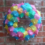 DIY Cocktail Umbrella Wreath Tutorial