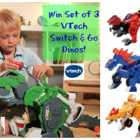 Win Set of 3 VTech Switch & Go Dinos from Must Have Mom!
