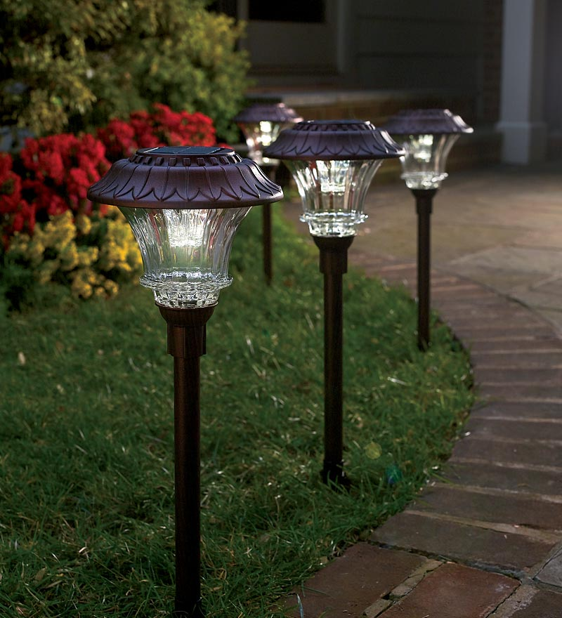 Lovely Solar Path Lights Part - 11: Plow And Hearth Solar Lights