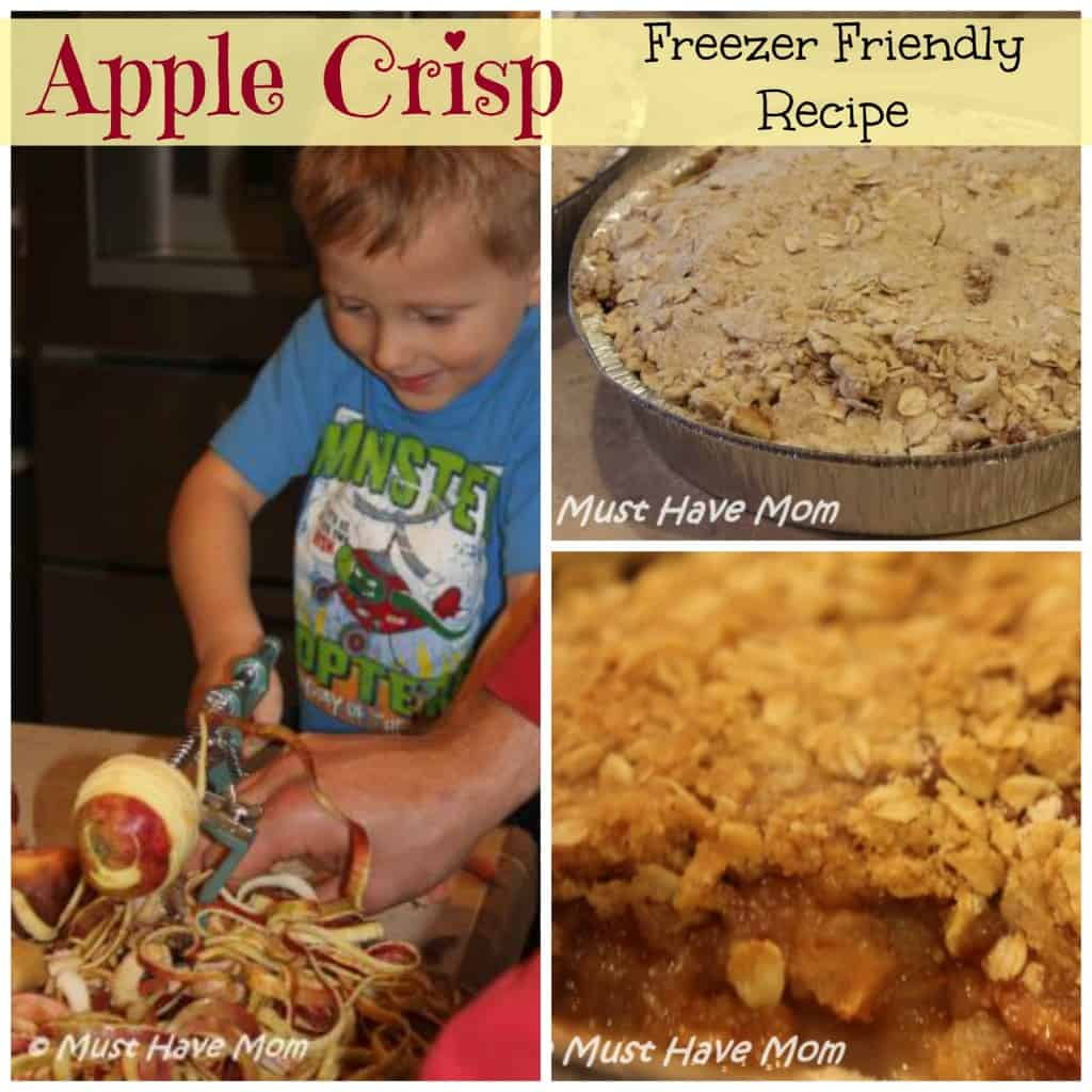freezer friendly apple crisp recipe