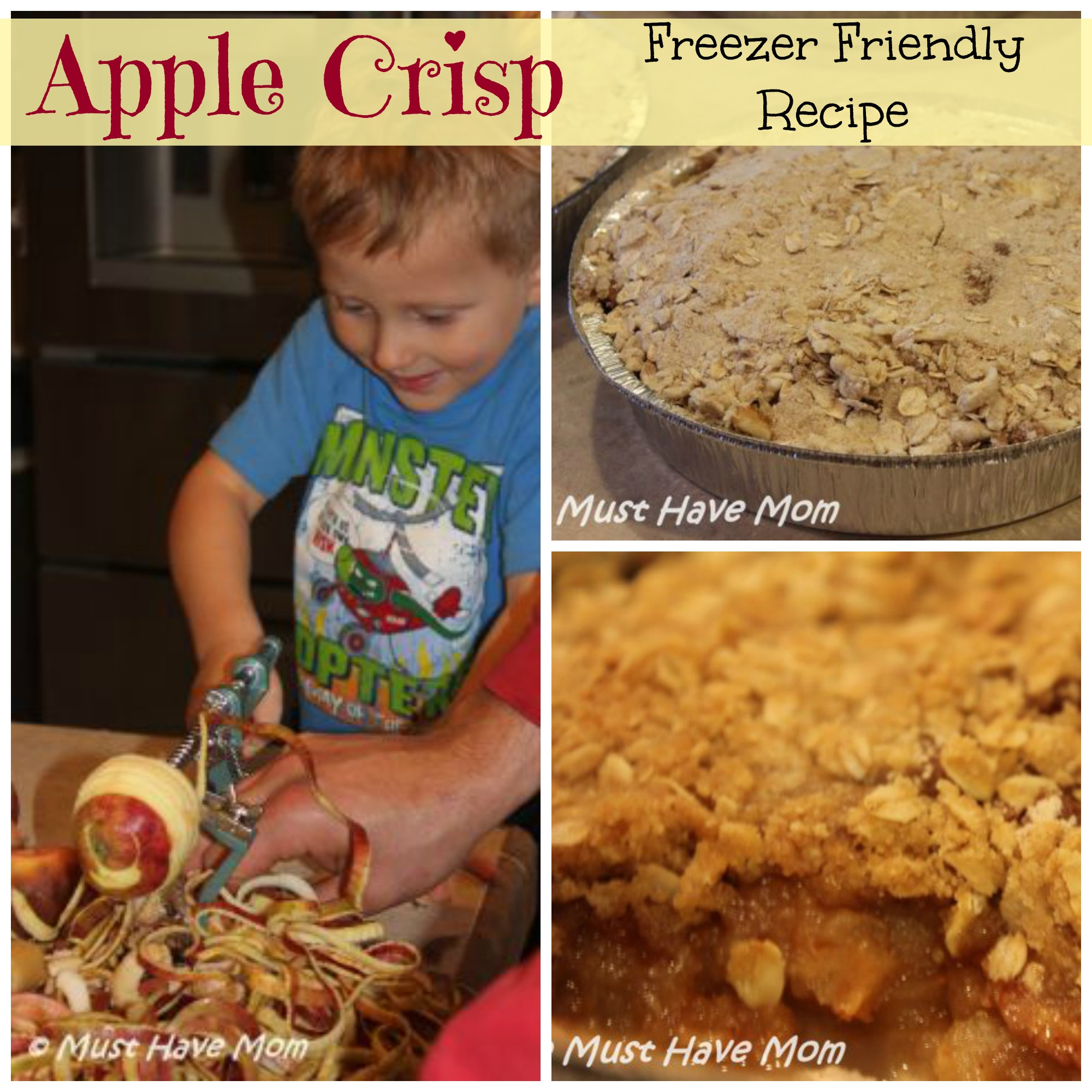 Apple Crisp Freezer Friendly Recipe