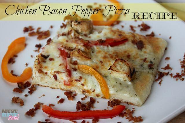 Chicken Bacon Pepper Pizza Recipe