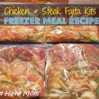 Fajita Freezer Meal Recipe ~ Chicken & Steak Fajita Kits