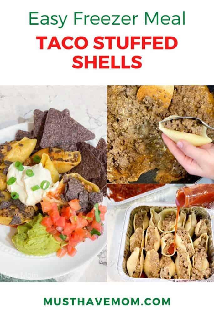 taco stuffed shells freezer meal
