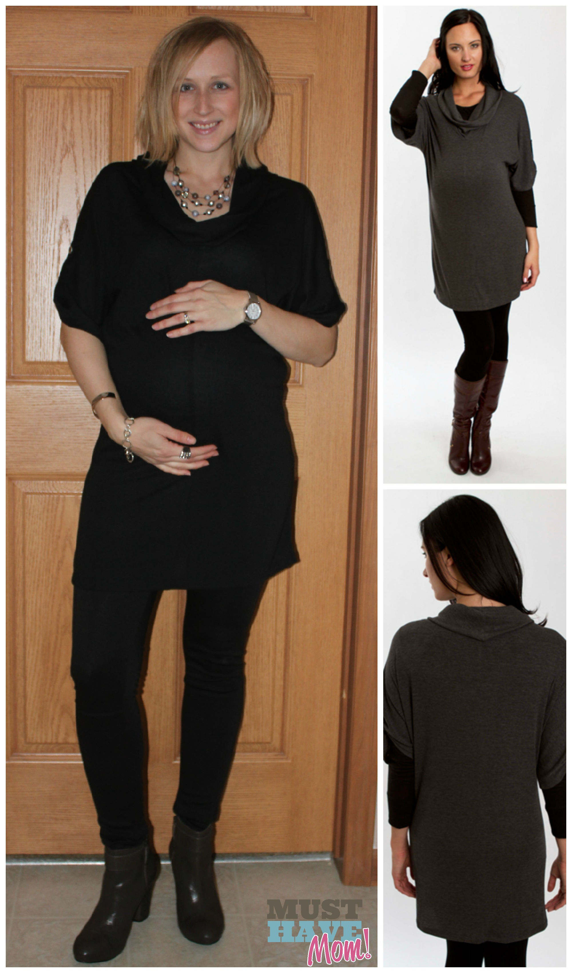 Brown Dress with Sweater Leggings
