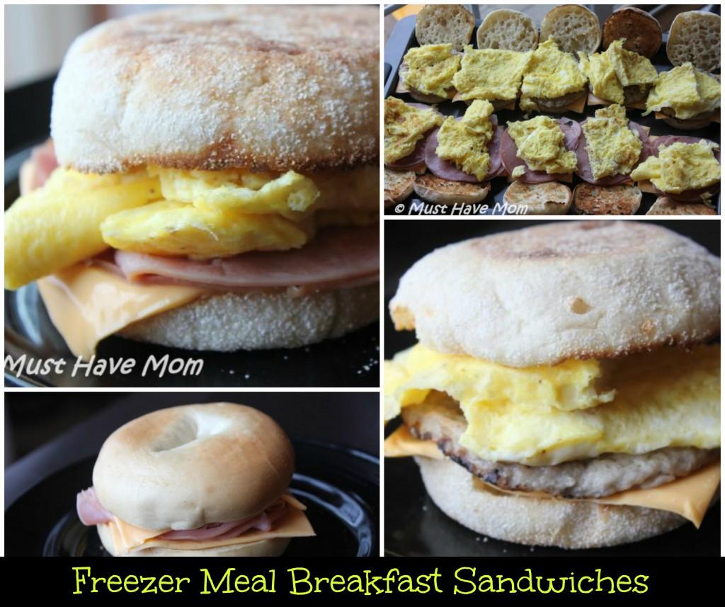 Freezer Meal Breakfast Sandwiches