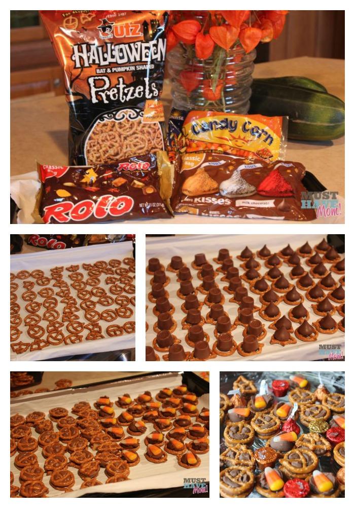 Hershey Chocolate Rolo Pretzel Halloween Treats