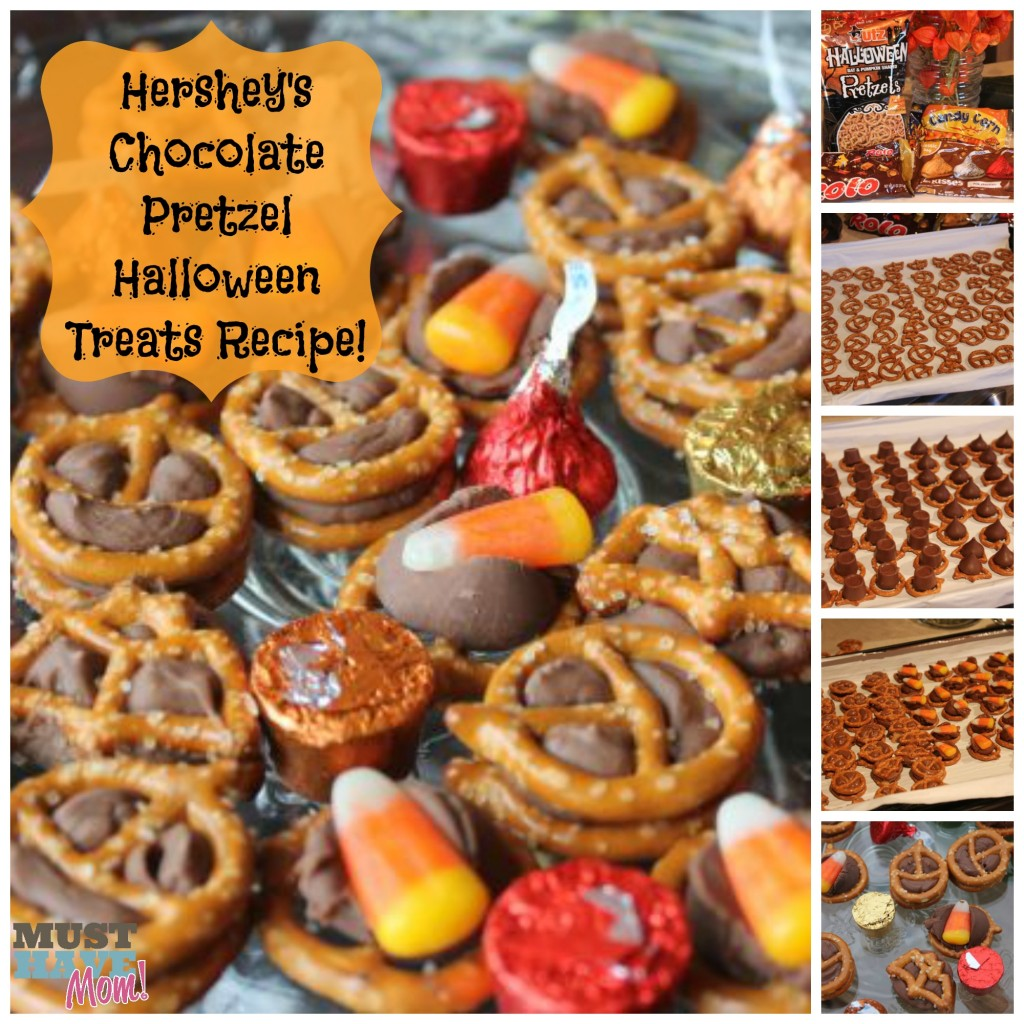 Hershey's Chocolate Pretzel Halloween Treats Recipe! Nut Free Halloween Treat Recipe!