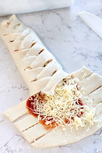 easy pizza braid
