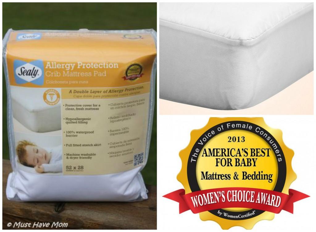 sealy allergy protection crib mattress pad - Sealy Crib Mattress