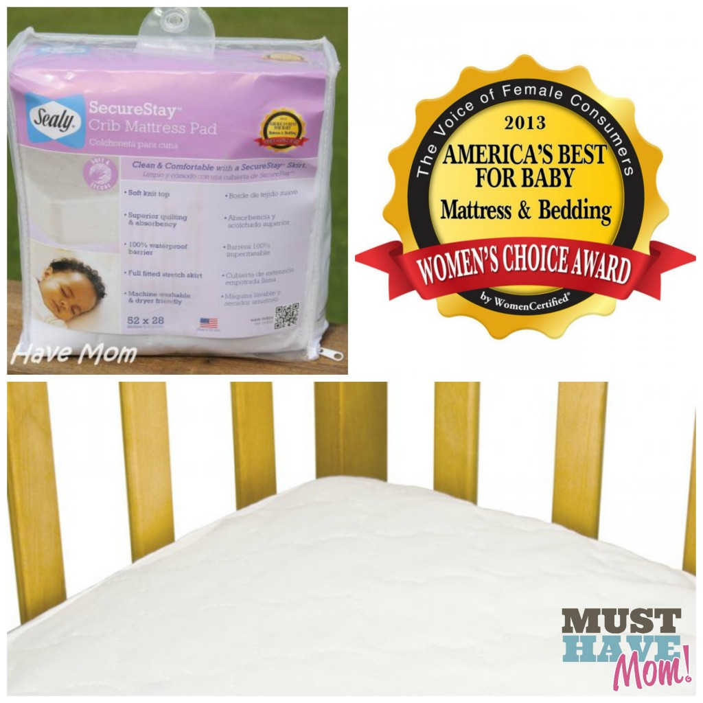 Best baby crib mattress 2013 - Sealy Securestay Crib Mattress Pad