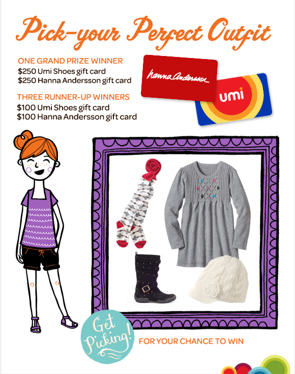 Win $250 Umi Shoes Gift Card & $250 Hanna Andersson Gift Card!