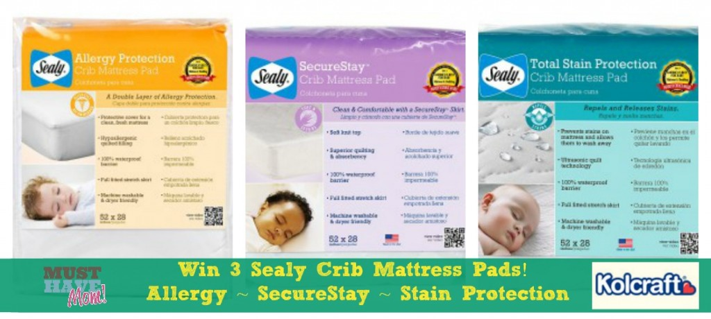 win 3 sealy crib mattress pads from must have mom ends - Sealy Crib Mattress