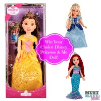 Win Your Choice Disney Princess & Me Doll from Must Have Mom! Ends 114