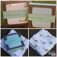 Must Haves for Mom & Baby Event: aden + anais Cozy Swaddle & Crib Sheet For Baby!