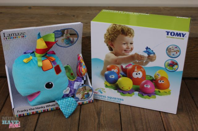 Win Lamaze Franky the Hanky Whale + TOMY Toys Octopal Squirters from Must Have Mom! Ends 11-13