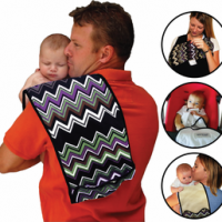 Must Haves For Mom & Baby Event: Baby K'tan Breeze Baby Carrier! {+ Baby K'tanCloth 3-in-1 Nursing Cover, Burp Cloth, Blankie Giveaway!}
