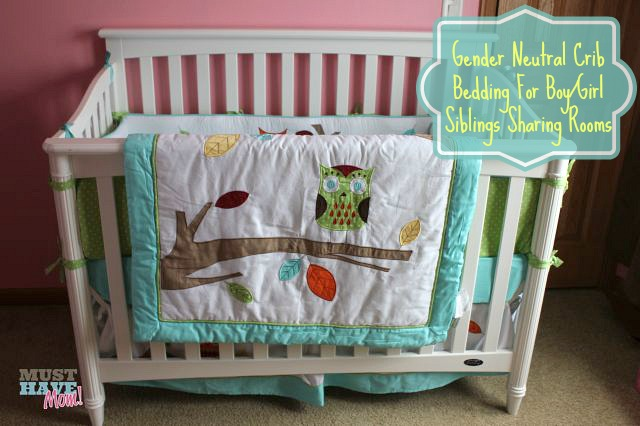 Gender Neutral Crib Bedding for Boy and Girl Sibblings Sharing Rooms