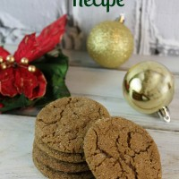 The Best Gingersnap Cookies Recipe!