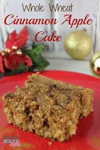 Whole Wheat Cinnamon Apple Cake Recipe