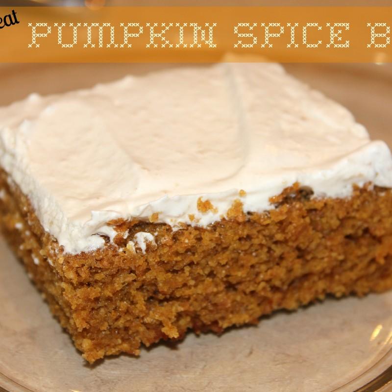 Whole Wheat Pumpkin Spice Bars Recipe + Smart Entertaining