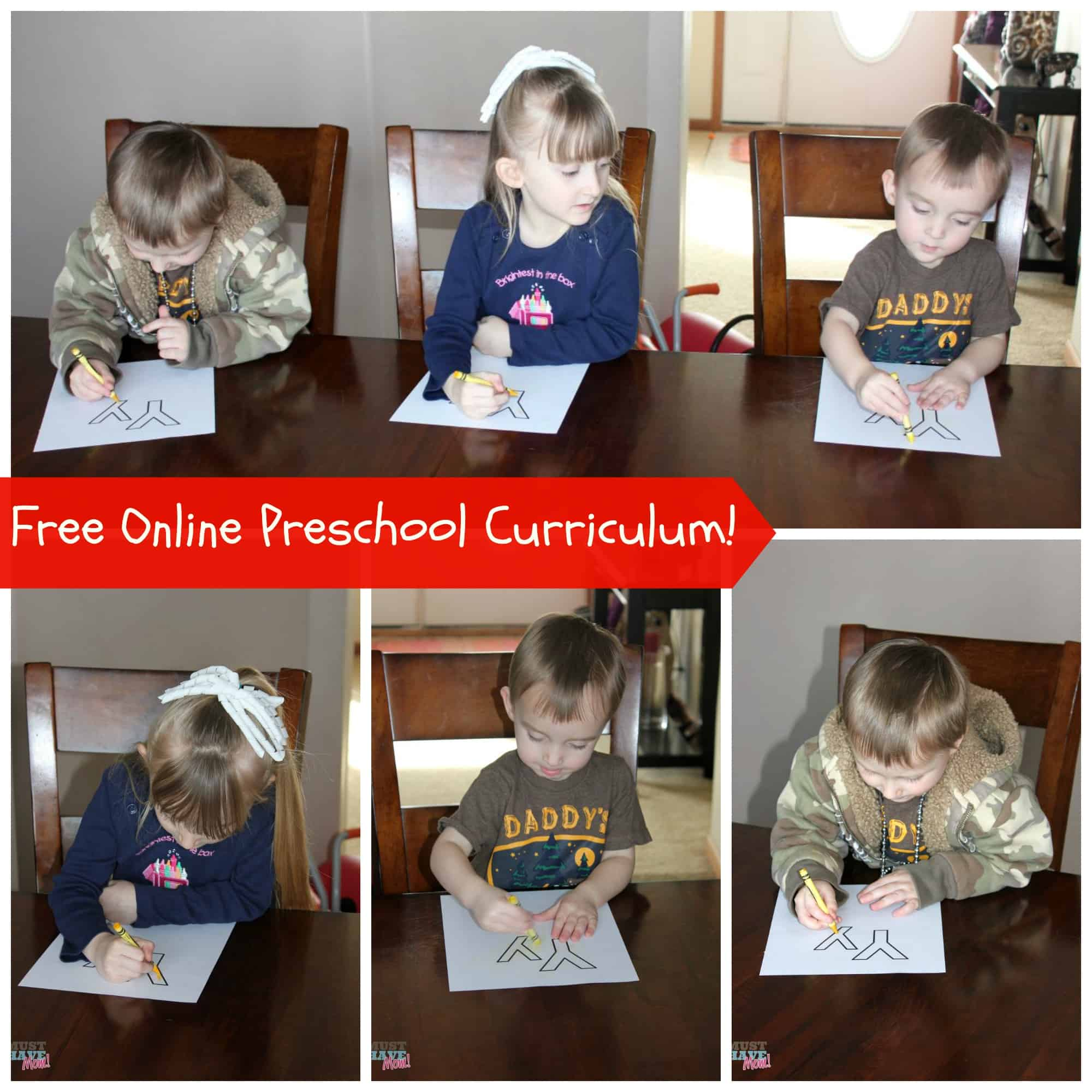 Free Online Preschool Curriculum Daily Classes Free Printables