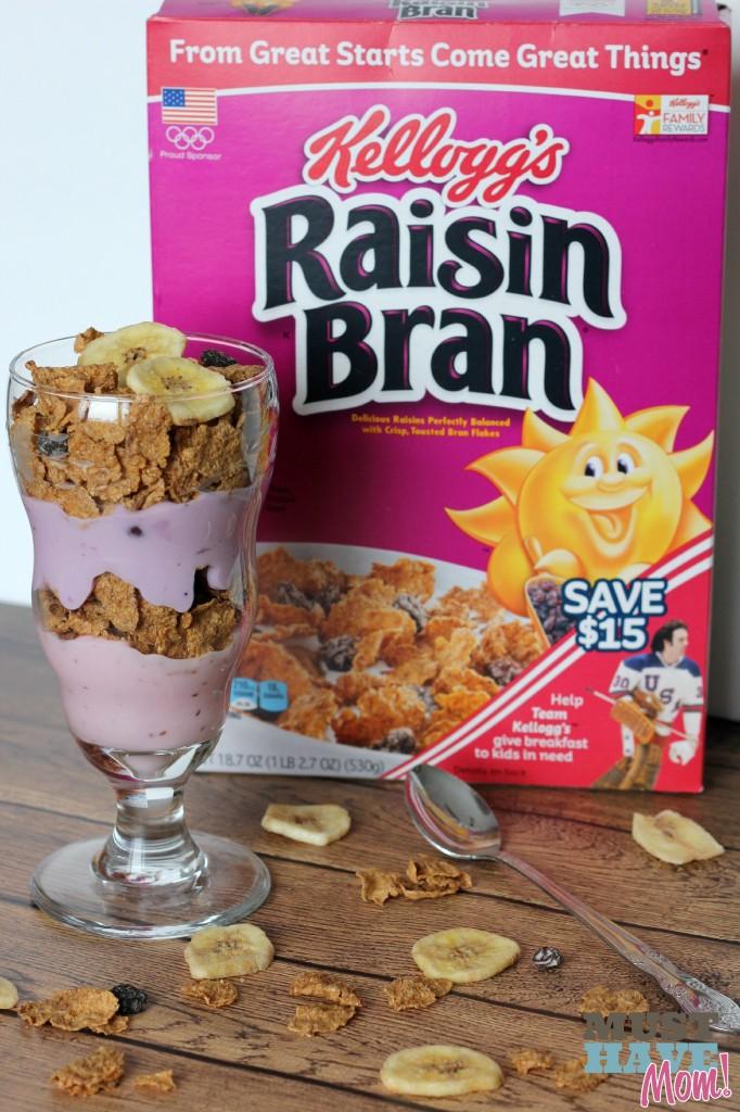 Kellogg's Yogurt and Raisin Bran Parfait Pairing