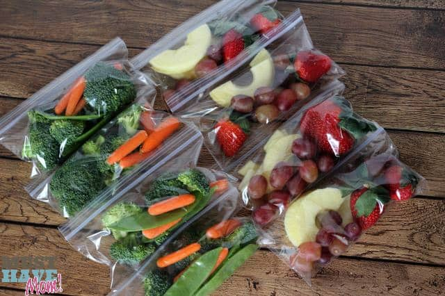 Tip Portion Out Fruit and Veggie Packs At The Start Of The Week