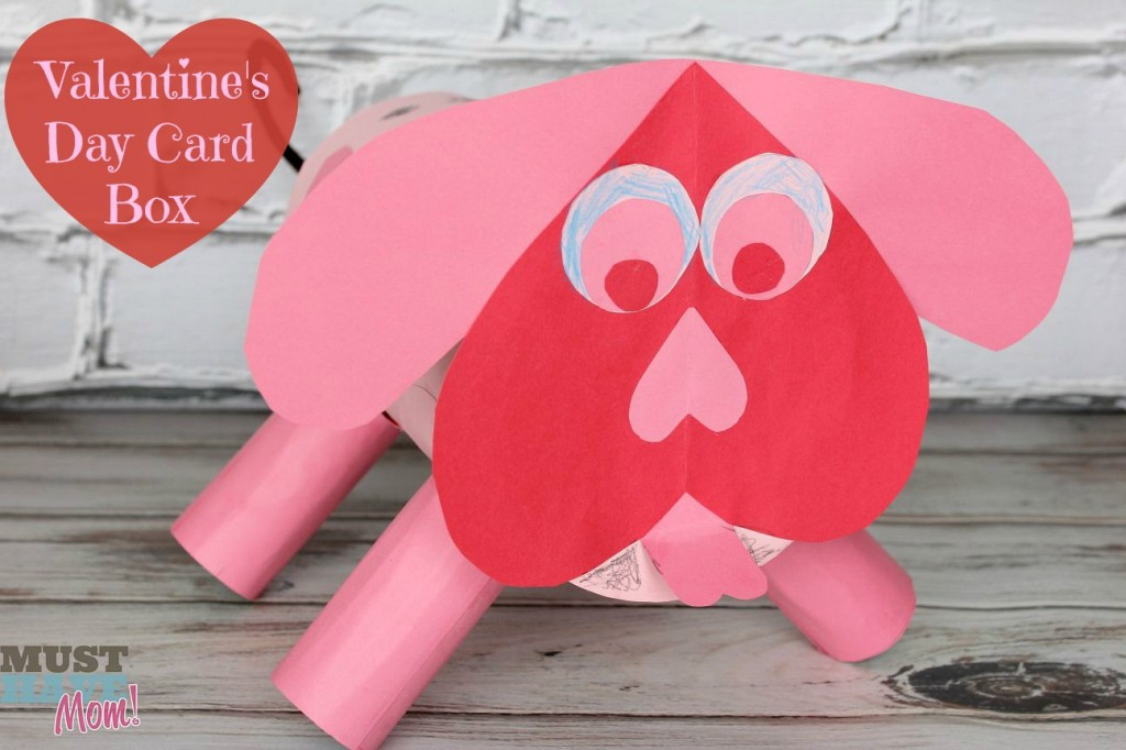 DIY Valentine's Day Puppy Card Box - Must Have Mom