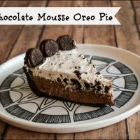 No Bake Chocolate Mousse Oreo Pie