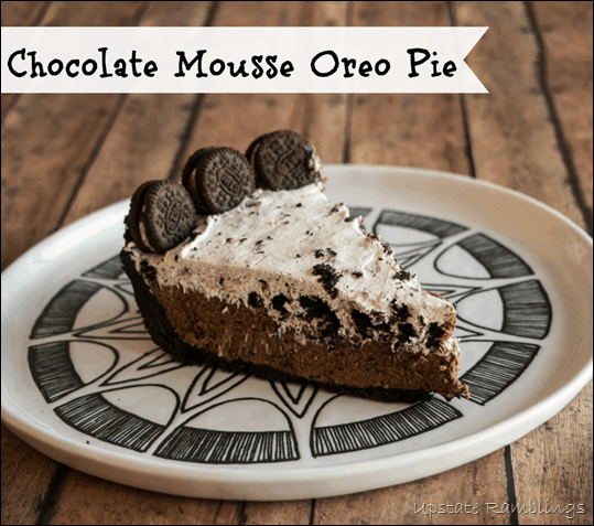 No Bake Chocolate Mousse Oreo Pie