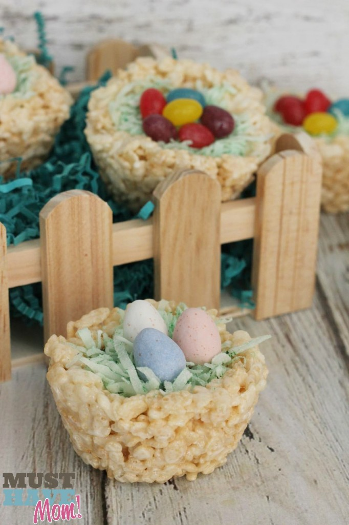Rice Krispie Easter Baskets With HERSHEY'S Cadbury Eggs