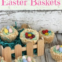 Rice Krispies Easter Baskets With HERSHEY'S Eggs & Jelly Beans - Must Have Mom